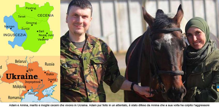 """EST EUROPA</br>Dalla Cecenia per combattere in Ucraina Adam e Amina: """"Basta con le oppressioni"""""""
