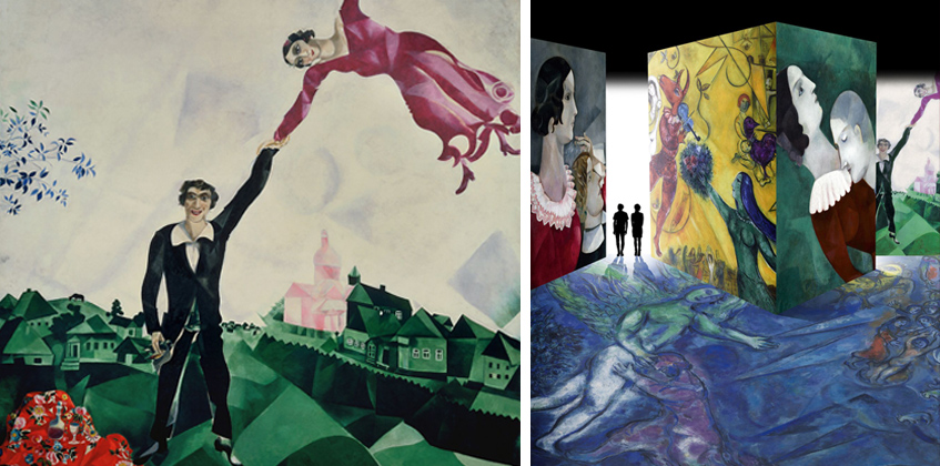 """Mostra spettacolo per  un Chagall """"destrutturato"""""""