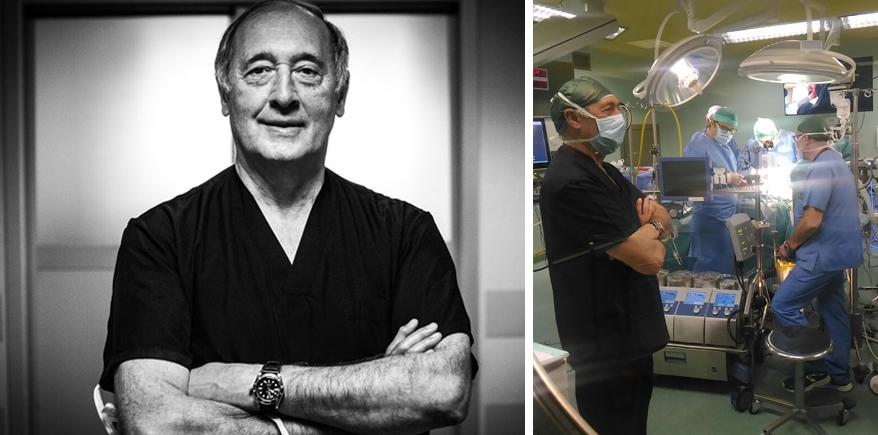 L'occhio del video in sala operatoria <br>Tecnica e umanità contro le patologie